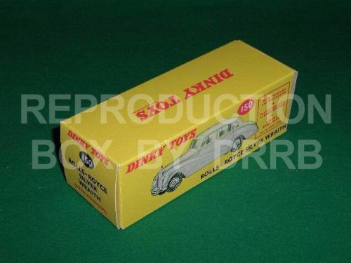 Dinky #150 Rolls Royce Silver Wraith - Reproduction Box
